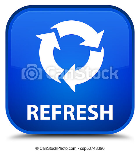 Refresh special blue square button - csp50743396