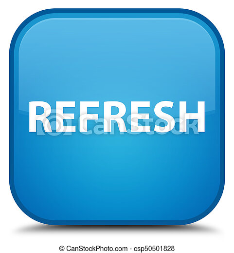 Refresh special cyan blue square button - csp50501828