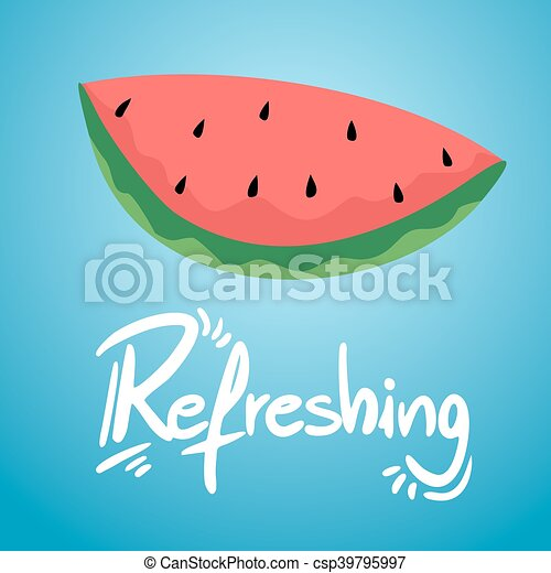 refreshing watermelon illustration - csp39795997