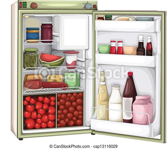 full refrigerator clipart. refrigerator - csp13116029 full clipart a