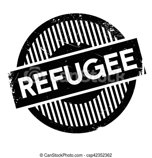 Refugee rubber stamp - csp42352362