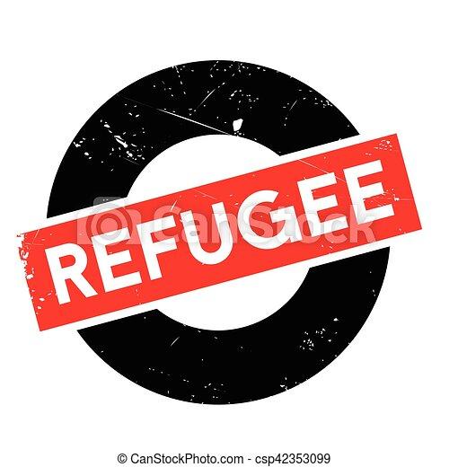 Refugee rubber stamp - csp42353099