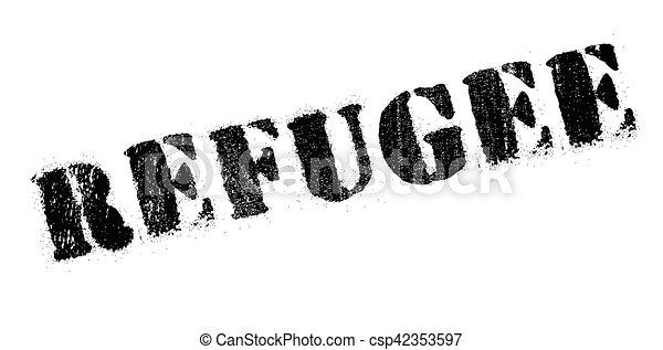 Refugee rubber stamp - csp42353597