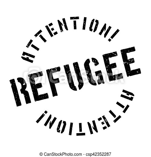 Refugee rubber stamp - csp42352287