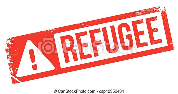 Refugee rubber stamp - csp42352484