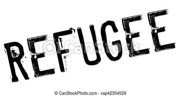 Refugee rubber stamp - csp42354529