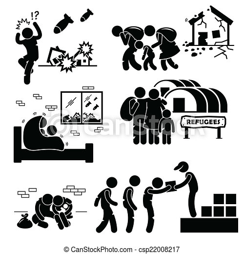 refugees evacuee war cliparts a set of human pictogram vector rh canstockphoto co uk Inventory Clip Art Ant Clip Art