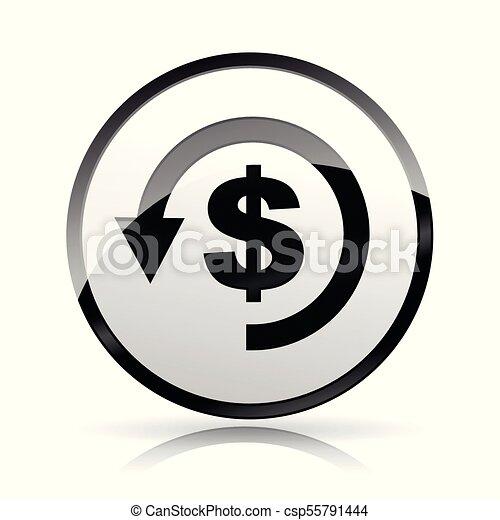 refund money icon on white background - csp55791444