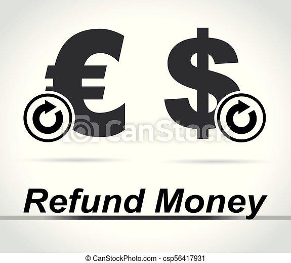 refund money icons on white background - csp56417931