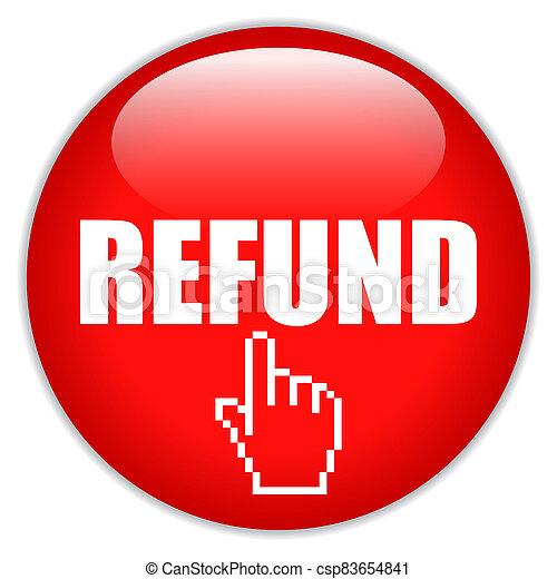 Refund request vector icon - csp83654841