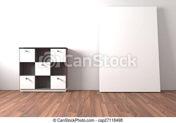 Möbel Leer regal weißes leer möbel kabinett graue zimmer boden