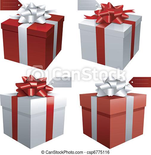 Un regalo de Navidad rojo - csp6775116