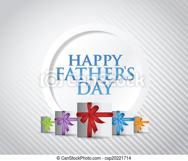Diseño de ilustración de tarjetas de regalo de los padres felices - csp20221714