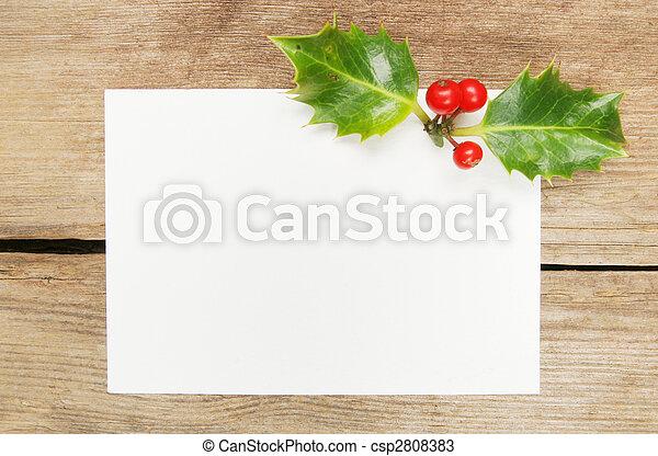 Tarjeta de regalo de Navidad - csp2808383