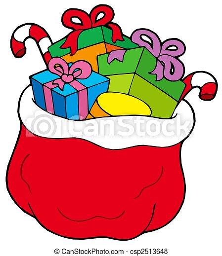 Dibujos De Navidad Regalos.Regalos Bolsa Navidad