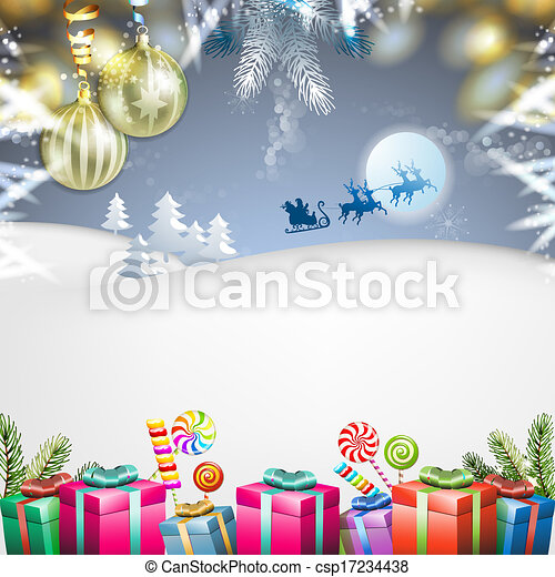 Navidad con regalos - csp17234438