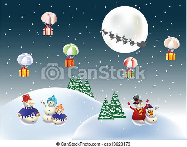 Regalos de Navidad - csp13623173