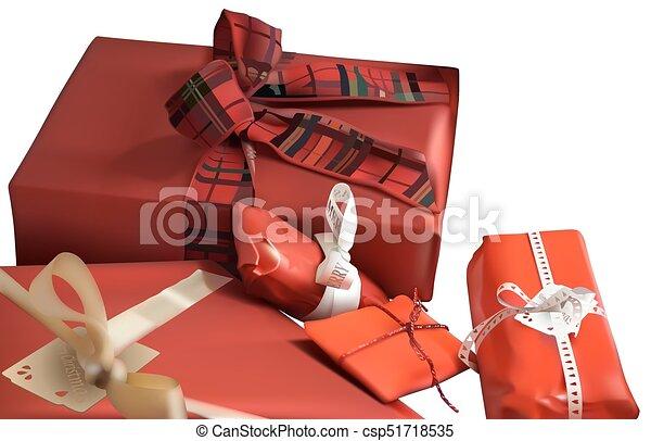 Regalos de Navidad rojos - csp51718535