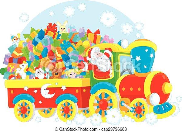 Santa con regalos de Navidad - csp23736683