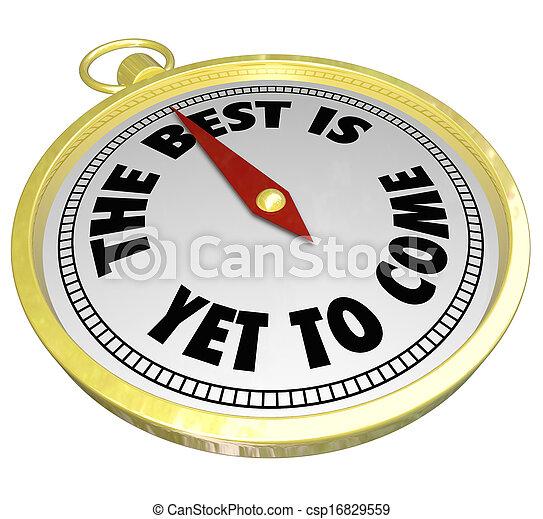 regarder, avenir, mots, compas, en avant!, venir, encore, mieux - csp16829559
