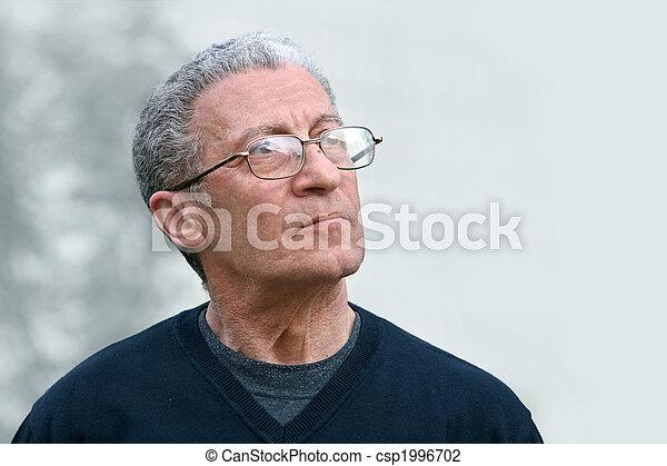regarder, personne agee, haut, homme - csp1996702