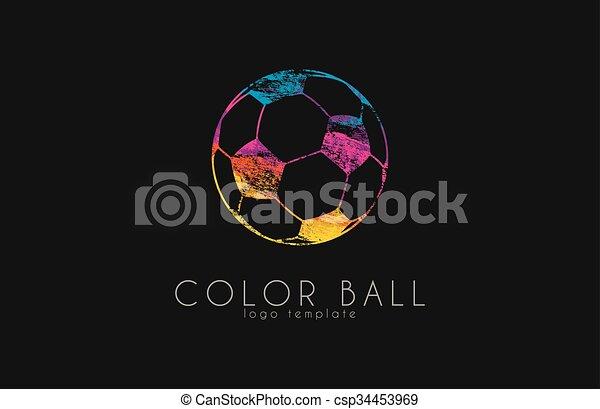 Regenbogen Bunte Crative Fussball Einkaufszentrum Fussball Logo Ball