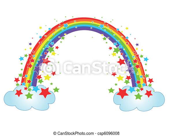 Dekor mit Regenbogen - csp6096008