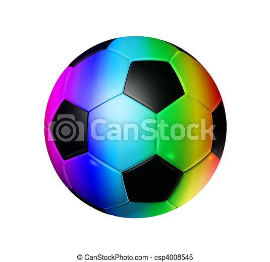 Regenbogen Fussball Ball Fussball Regenbogen Ausschnitt