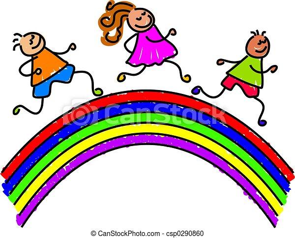 regenbogen, kinder - csp0290860