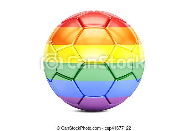 Regenbogen Kugel Fahne Ubertragung Fussball 3d