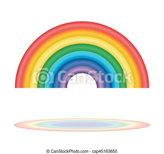 Regenbogen Sieben Rainbow Farben Ikone Regenbogen Sieben