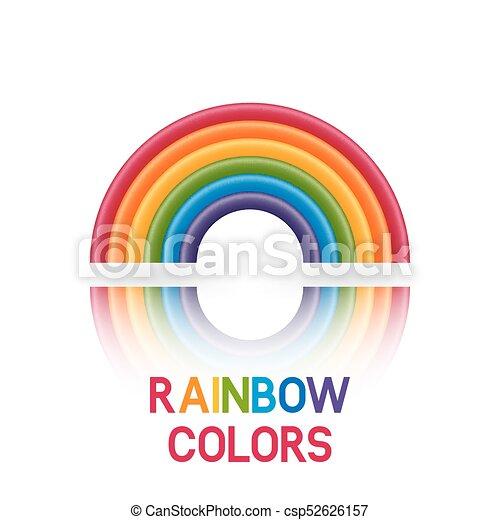 Regenbogen Symbol Sechs Farben Regenbogen 10 Symbol Sechs