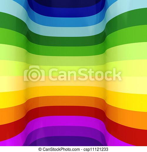 regenboog, abstract, kleurrijke, achtergrond, 3d - csp11121233