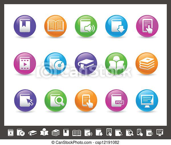 //, regenboog, iconen, boek, reeks - csp12191082