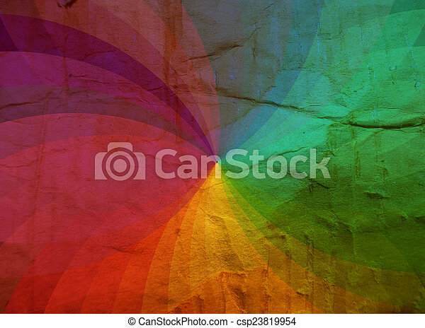 regenboog, karton, textuur, achtergrond - csp23819954