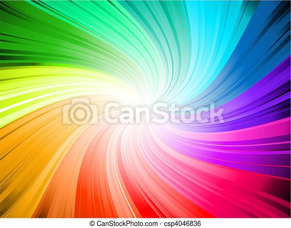 regenboog, kolken - csp4046836