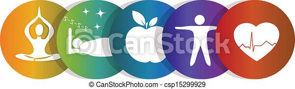 regenboog symbool, gezondheid - csp15299929