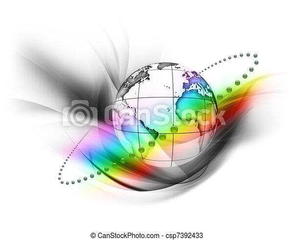 regenboog, wereld - csp7392433