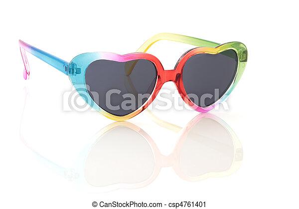 regenboog, zonnebrillen - csp4761401