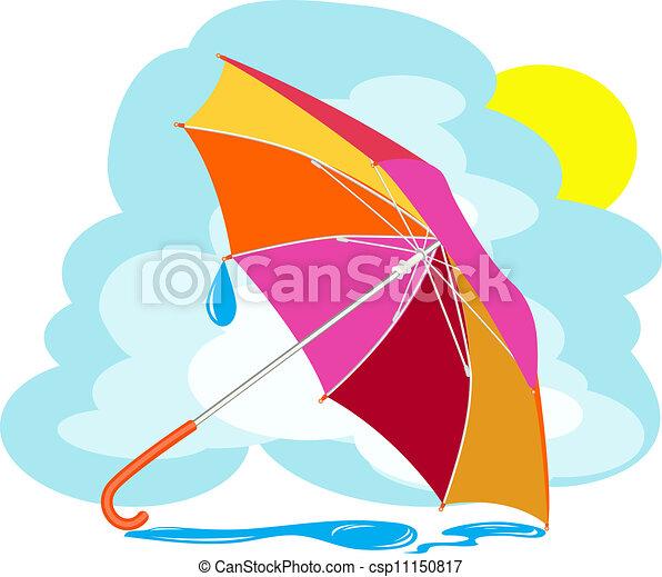 f2446f3b25 Regenschirm- farbe, himmelsgewölbe, regen, gegen, tropfen.