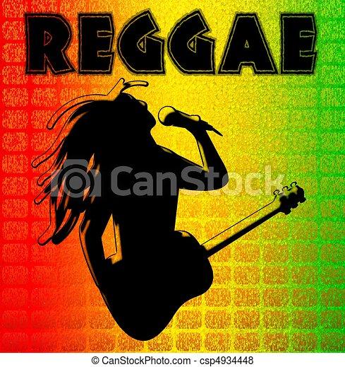 reggae, illuustration, hintergrund - csp4934448