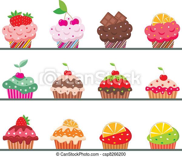 Cupcakes in einem Regiment - csp8266200