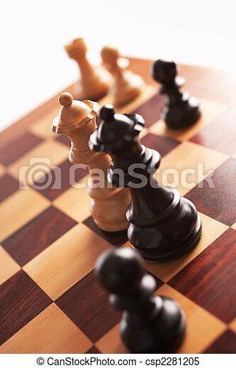 regine, scacchi, altro, faccia, bianco, indietro, ciascuno - csp2281205