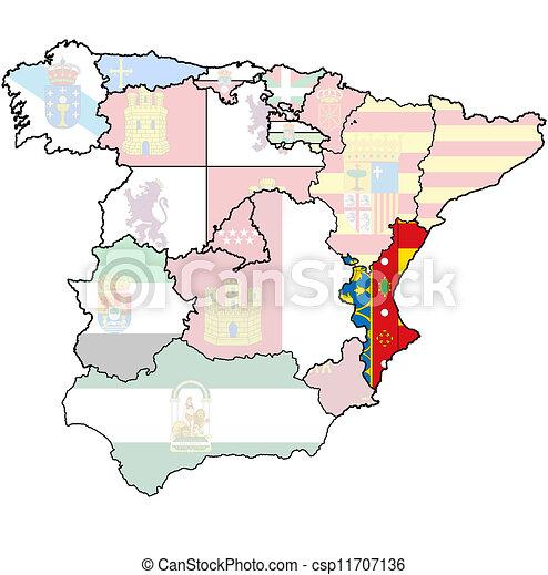 Map Of Spain Valencia.Region Of Valencia