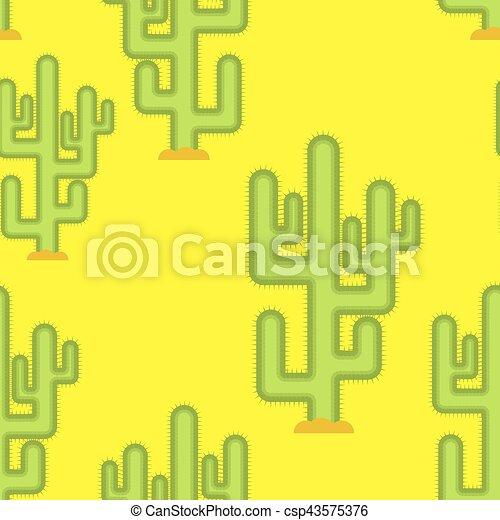 regione selvaggia, peyote, pattern., seamless, giallo, grande, fondo, cactus, deserto - csp43575376