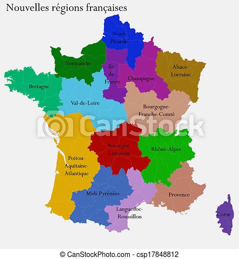 Francia Regioni Cartina.Regioni Nuovo Francese