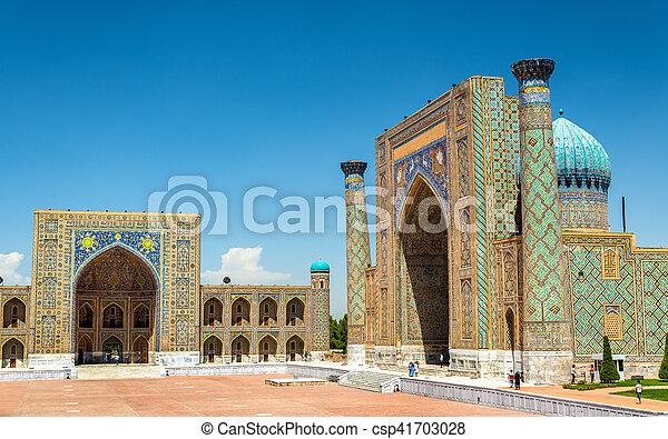 Registan Square in Samarkand - Uzbekistan - csp41703028