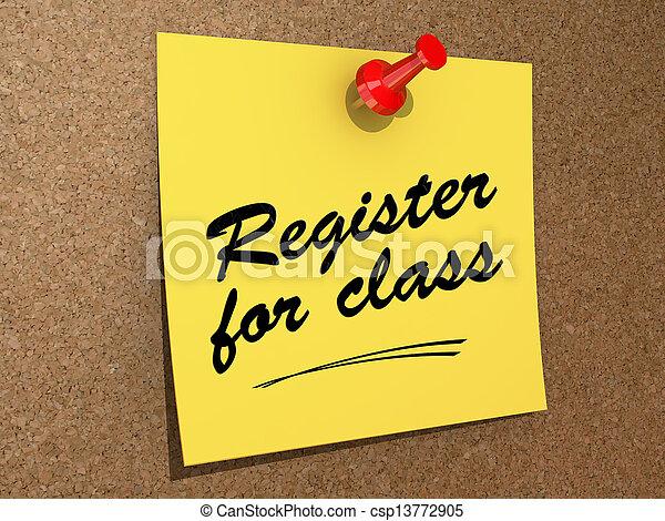 Register for Class - csp13772905