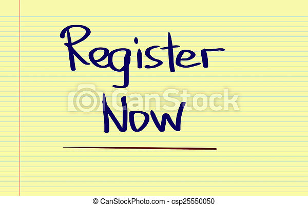 Register Now Concept - csp25550050