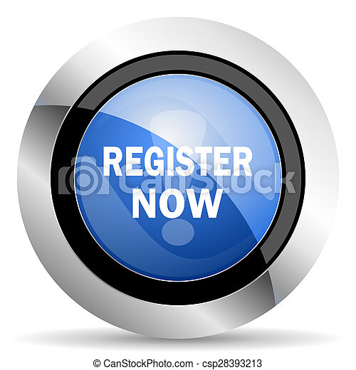 register now icon - csp28393213